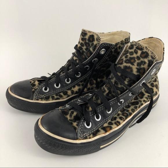 33fc116cad61 Converse Shoes - Converse Chuck Taylor leopard high tops